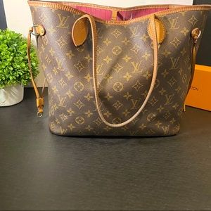 AUTHENTIC WITH RECIEPT LOUIS VUITTON NEVERFULL MM